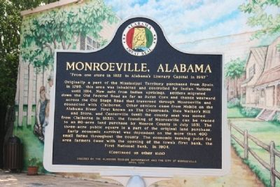 Monroeville, Alabama Marker (Front) image. Click for full size.