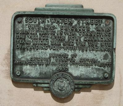 South Water Street Marker image. Click for full size.