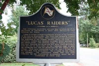 """Lucas Raiders"" Marker (Front) image. Click for full size."
