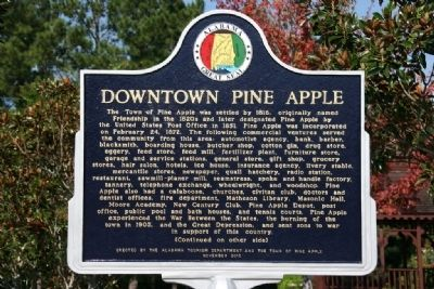 Downtown Pine Apple Marker (Front) image. Click for full size.