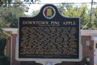 Downtown Pine Apple Marker (Reverse) image. Click for full size.