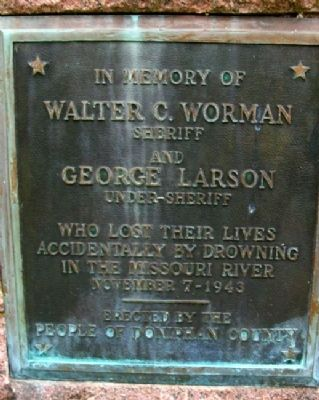 Worman and Larson Memorial Marker image. Click for full size.