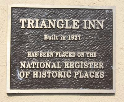 Triangle Inn Marker image. Click for full size.