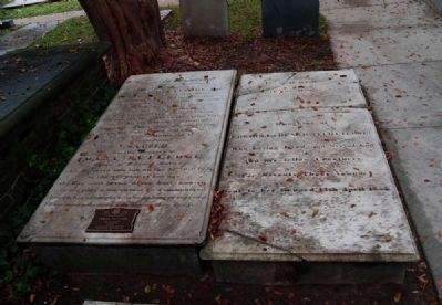 Edward & Sarah Rutledge Tombstones image. Click for full size.