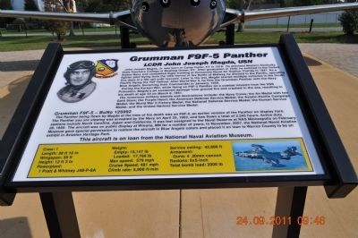 Grumman F9F-5 Panther Marker image. Click for full size.