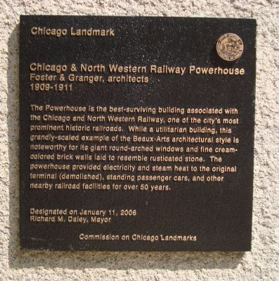 Chicago & North Western Railway Powerhouse Marker image. Click for full size.