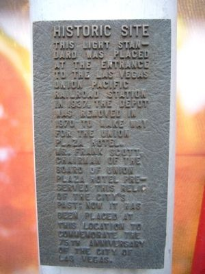 Historic Light Standard Marker image. Click for full size.