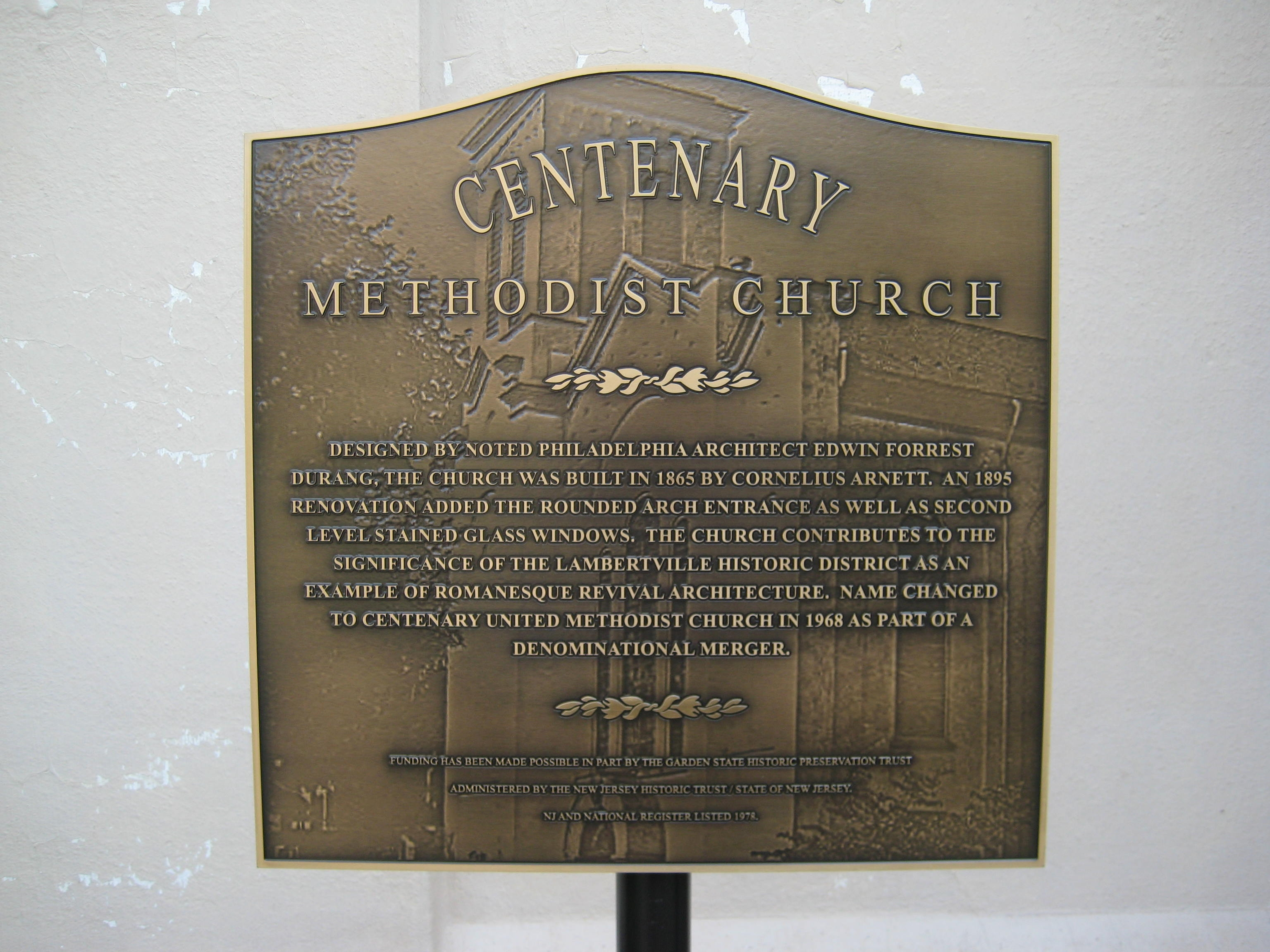 Centenary Methodist Church Marker