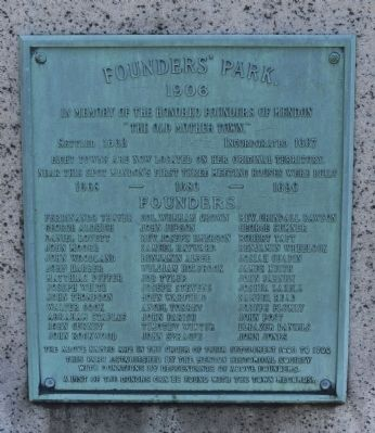 Founders Park Monument-Front image. Click for full size.