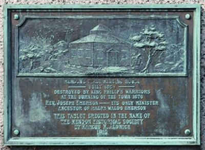 Founders Park Monument-Rear image. Click for full size.
