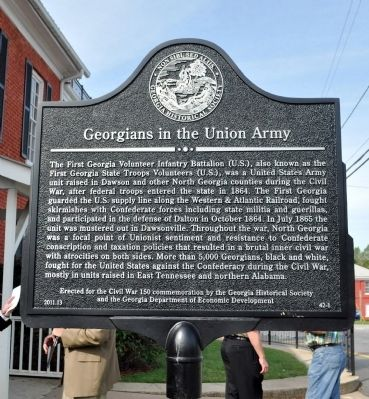 Georgians in the Union Army Marker image. Click for full size.