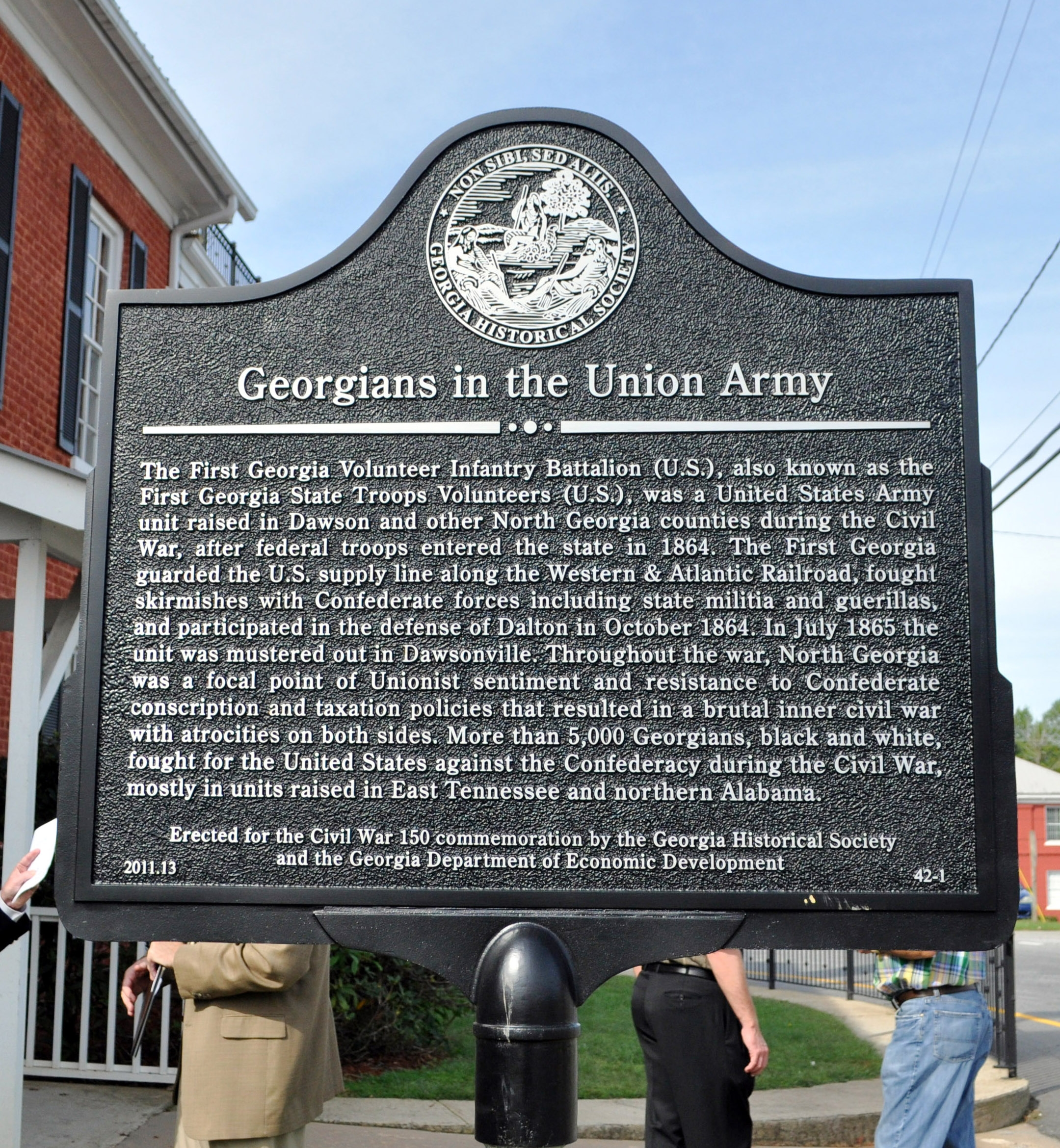 Georgians in the Union Army Marker