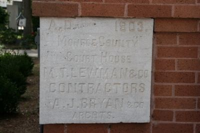 Old Monroe County Courthouse Cornerstone image. Click for full size.