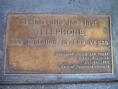 The First Telephone Marker image. Click for full size.