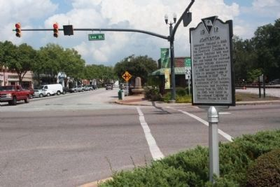 Johnston Marker, looking north along Calhoun Street image. Click for full size.