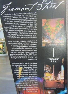 Fremont Street Marker <i>side B</i> image. Click for full size.