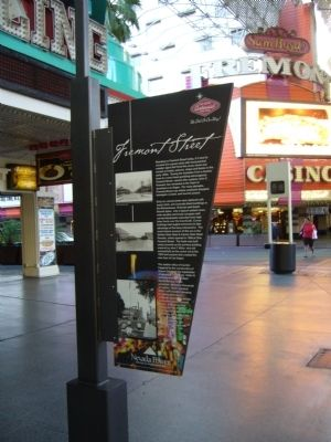 Fremont Street Marker <i>side A</i> image. Click for full size.