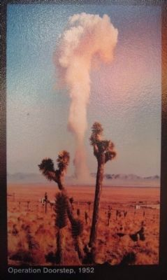 Photo on Atomic Testing Marker image. Click for full size.