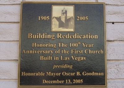 First Church Built in Las Vegas Marker image. Click for full size.