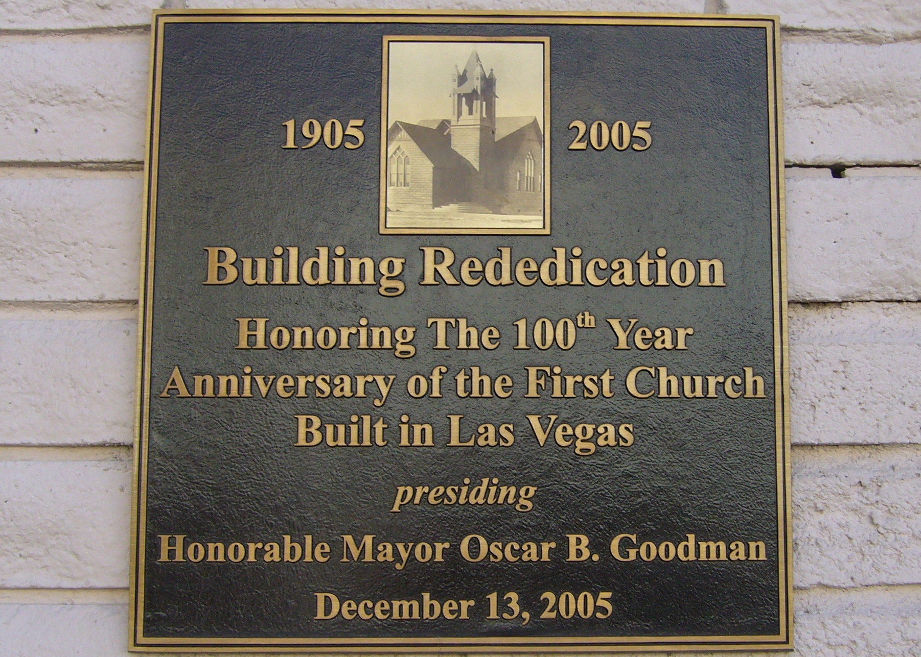 First Church Built in Las Vegas Marker
