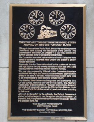The Standard Time System in the United States Marker image. Click for full size.