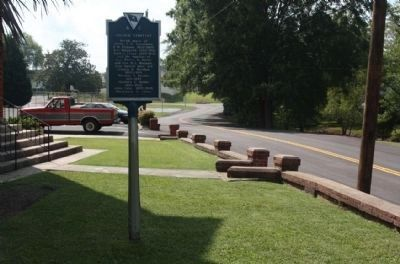 First Baptist Church / Village Cemetery Marker, looking south along Church Street image. Click for full size.