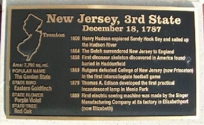 New Jersey, 3rd State Marker image. Click for full size.