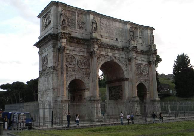 Arch of Constantine image. Click for full size.