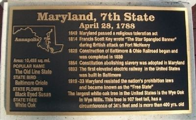 Maryland, 7th State Marker image. Click for full size.