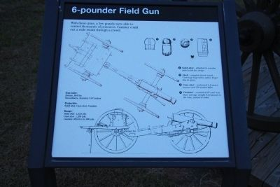 6 - pounder Field Gun Marker image. Click for full size.
