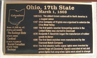 Ohio, 17th State Marker image. Click for full size.