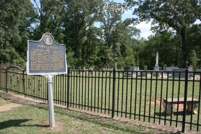 Puryearville Marker and Cemetery image. Click for full size.