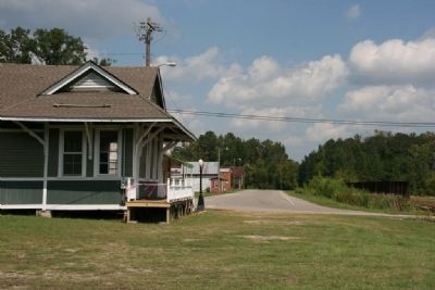Downtown Peterman, Alabama looking north on Railroad Street. image. Click for full size.