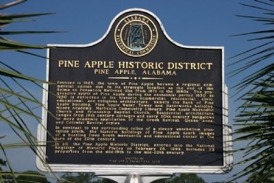 Pine Apple Historic District Marker image. Click for full size.