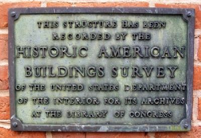 Irvin Hall HABS Marker image. Click for full size.