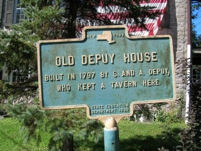 Old Depuy House Marker image. Click for full size.