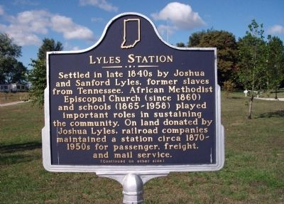 Side 'One' - - Lyles Station Marker image. Click for full size.