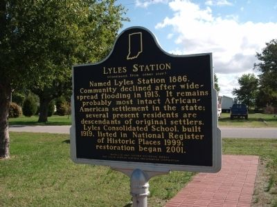 Side 'Two' - - Lyles Station Marker image. Click for full size.