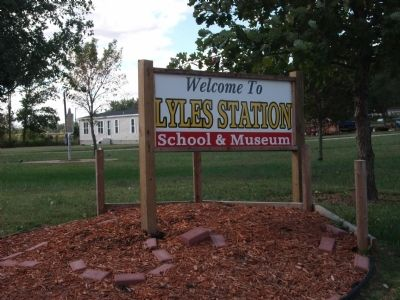 Sign - - Lyles Station School & Museum image. Click for full size.