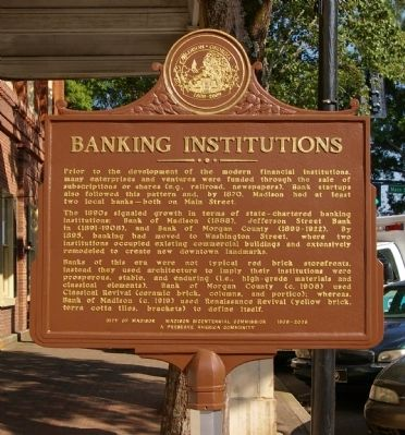 Banking Institutions Marker image. Click for full size.