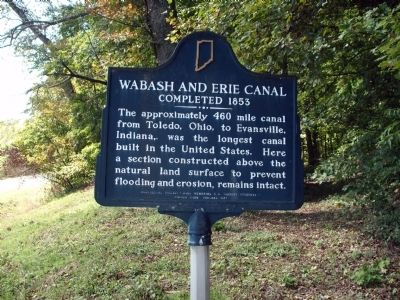 Wabash and Erie Canal Completed 1853 Marker image. Click for full size.