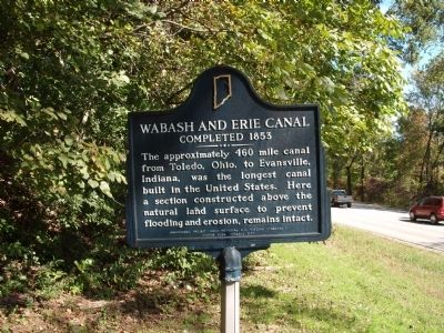 Obverse Side - - Wabash and Erie Canal Completed 1853 Marker image. Click for full size.
