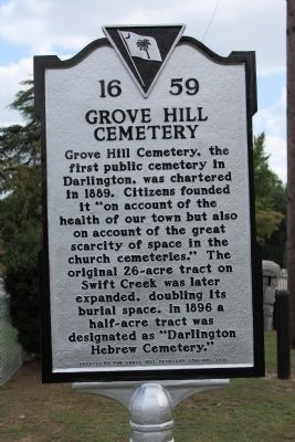 Grove Hill Cemetery Marker image. Click for full size.