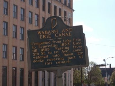 Wabash and Erie Canal Marker image. Click for full size.