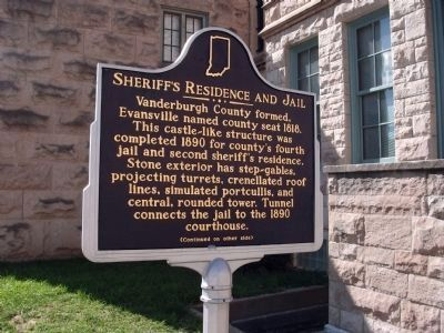 Side 'One' - - Sheriff's Residence and Jail Marker image. Click for full size.