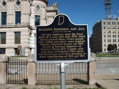 Side 'Two' - - Sheriff's Residence and Jail Marker image. Click for full size.