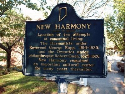 Obverse Side - - New Harmony Marker image. Click for full size.