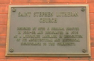 Saint Stephen Lutheran Church Marker image. Click for full size.