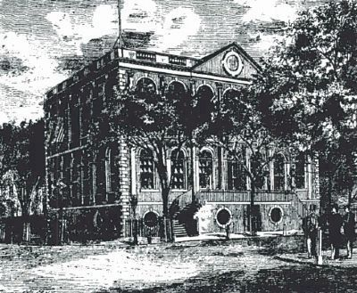 Charleston City Hall Engraving<br>Showing Original Brick Exterior image. Click for full size.