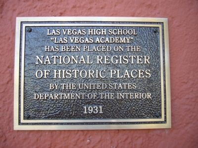Las Vegas High School Marker image. Click for full size.